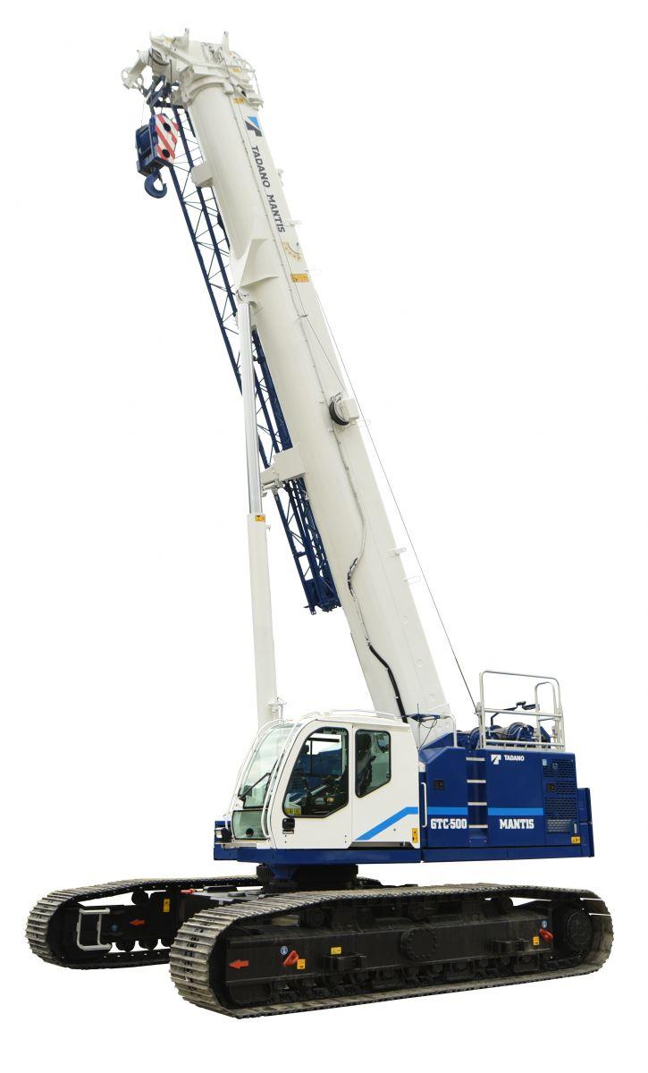 Tadano Mantis Unveils 55-Ton Teleboom Crawler Crane